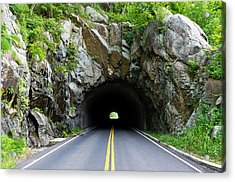 Tunnel On A Lonely Road Acrylic Print