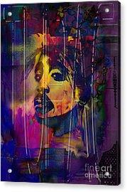 Tupac Acrylic Print by Christine Mayfield