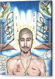 Tupac In Heaven Acrylic Print by Debbie DeWitt