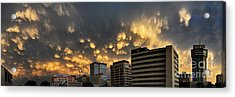 Acrylic Print featuring the photograph Turbulent City by Brian Duram