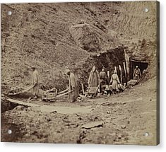 Turkestani Workers Hauling Coal From An Acrylic Print by Everett