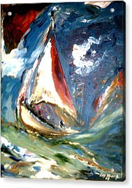 Acrylic Print featuring the painting Turmoil by Ray Khalife