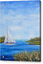 Turning In Acrylic Print by Stanton D Allaben