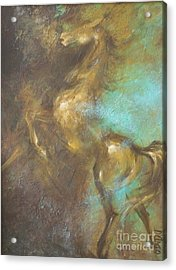 Turquoise Dust 2 Acrylic Print by Dina Dargo