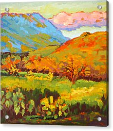 Turquoise Mountain Coral Hill Acrylic Print