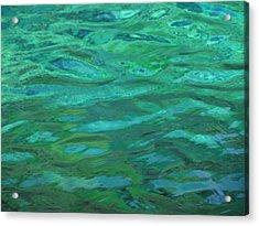 Turquoise Ripples Acrylic Print