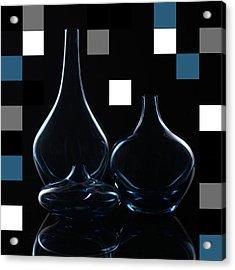 Turquoise Vases Acrylic Print by Katy Irene