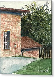 Acrylic Print featuring the painting Tuscan Brick And Bamboo by Joan Hartenstein