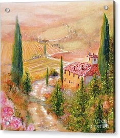 Acrylic Print featuring the painting Tuscan Dream by Michael Rock