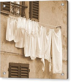 Acrylic Print featuring the photograph Tuscan Laundry by Ramona Johnston