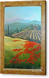 Tuscan Vista Acrylic Print by Phyllis Howard