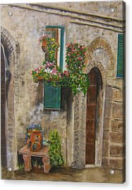 Tuscan Window Acrylic Print by Maureen Pisano