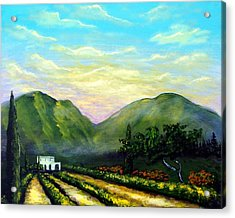 Acrylic Print featuring the painting Tuscany Light by Larry Cirigliano