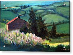 Acrylic Print featuring the painting Tuscany by Rosemarie Hakim