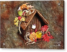 Tweet Little Bird House Acrylic Print by Andee Design