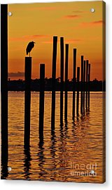 Twelve Poles At Sunset Acrylic Print