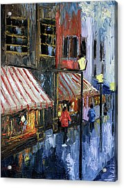 Twelve Street And Rine Acrylic Print by Anthony Falbo