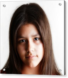 Twelve Year Old Published Author Acrylic Print by Miguel Capelo