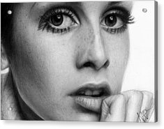 Twiggy Acrylic Print by Nat Morley