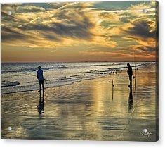 Twilight Fishing Acrylic Print by Phill Doherty