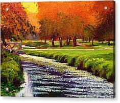 Twilight Golf II Acrylic Print by David Lloyd Glover