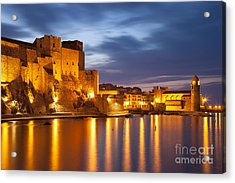 Twilight In Collioure Acrylic Print by Brian Jannsen