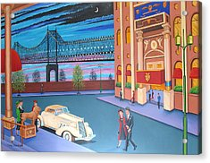 Twilight In New York Acrylic Print by Tracy Dennison