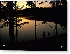 Twilight Over Walden Pond, Made Famous Acrylic Print by Tim Laman