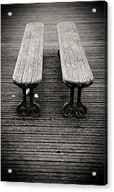 Twin Benches Acrylic Print by Edward Myers