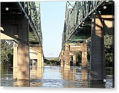 Acrylic Print featuring the photograph Twin Bridges by Elizabeth Winter