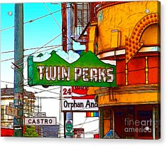 Twin Peaks Bar In San Francisco Acrylic Print by Wingsdomain Art and Photography