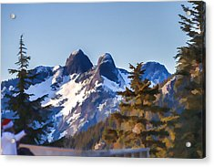 Twin Peaks Painting Acrylic Print