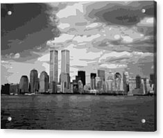 Twin Towers Bw10 Acrylic Print by Scott Kelley