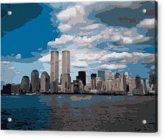 Twin Towers Color 16 Acrylic Print by Scott Kelley