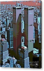 Twin Towers Acrylic Print by George Pedro