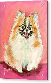 Twinki Gurl Acrylic Print by Paintings by Gretzky