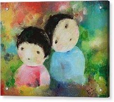 Twins 1 Acrylic Print by Becky Kim