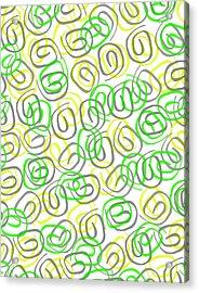 Twirls Acrylic Print by Louisa Knight
