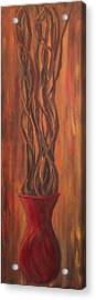 Acrylic Print featuring the painting Twisted by Christie Minalga