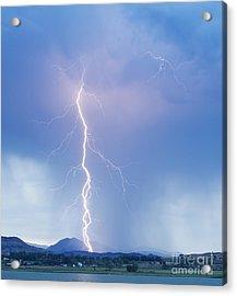 Twisted Lightning Strike Colorado Rocky Mountains Acrylic Print by James BO  Insogna