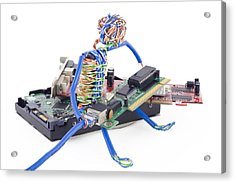 Twisted Man Assemblage The Computer Acrylic Print