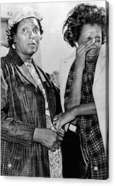 Two African American Women Stand Acrylic Print by Everett