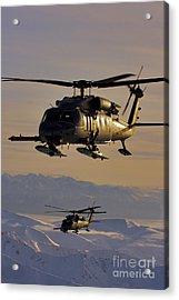 Two Alaska Air National Guard Hh-60g Acrylic Print by Stocktrek Images