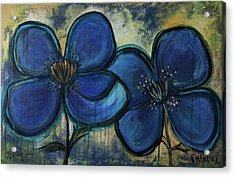 Two Blue Poppies Acrylic Print