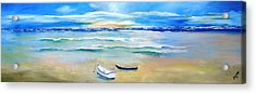 Two Boats Ashore  Acrylic Print by Gary Smith