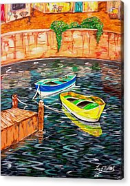 Two Boats Acrylic Print