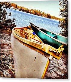 Two Canoes Acrylic Print
