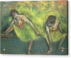 Two Dancers Relaxing Acrylic Print by Edgar Degas