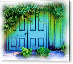 Two Doors Acrylic Print by Judi Bagwell