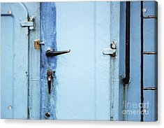 Two Handles And A Padlock Acrylic Print by Agnieszka Kubica